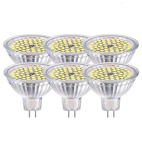 GVOREE MR16 GU5.3 LED Lampen Lampe Neutralweiss AC DC 12 V 5 Watt Ersetzen 50 Watt Halogenlampe GU5.3 LED Spot Birne 4000K 120 Grad Abstrahlwinkel Helligkeit Nicht Regelbar 6Teile / satz