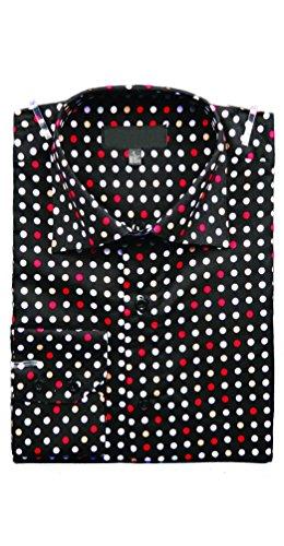 Herren Party Dot Shirt Rot