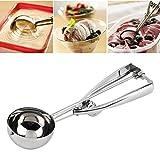 #8: Inovera Stainless Steel Easy Handheld Ice Cream Serving Scooper,Silver