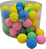 PeSoBo 10 Stück Moosgummiball Schaumball 4 cm Katzenspielzeug Spielball Softball