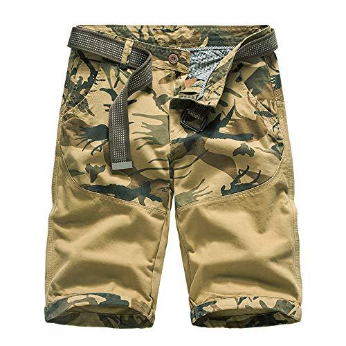 Aiserkly Herren Sommer Cargo Shorts im Freien Baumwolle Lockere Jogging Hosen Kurze Camouflage Arbeitshose (Asiatische Joker Kostüm)