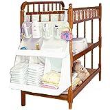 Bebé Nursery organizer-hanging organizador para cama–Pañales Organizador con bolsillos grandes–gran espacio de almacenamiento para pañales y toallitas, cremas y lociones–cómodo acceso a todos los cambiador