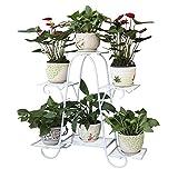 YH Support pour Pot De Fleurs D'intérieur Support De Fleurs en Fer Forgé Étage Balcon Salon Table À Fleurs Simple 73cm / 83cm A+ (Couleur : A, Taille : 83cm)...