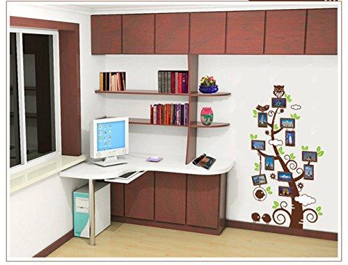 QZ Bilderrahmen Baum Wandaufkleber 5. Generation Weiß PVC Transparent Membrane Kreative Wohnzimmer Sofa Wandaufkleber,Farbe,Länge 90 cm (Generation Bilderrahmen 5)
