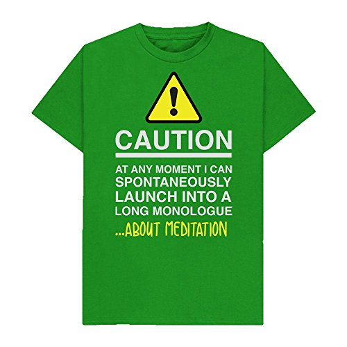 Caution - at Any Moment I Can Monologue About. Meditation - Hobbies - Tshirt - Shaw T-Shirts - Sizes Small to 2XL