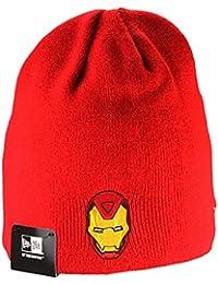 Ironman reverso hero/basic/bonnet beanie bonnet réversible en rouge et gris avec motif cachemire foulard bandana