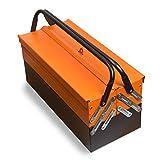 Professionelle Werkzeugkiste aus Stahl 85 teilig in der Farbe orange