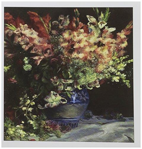 3drose Renoir Gladiolen in Vase Malerei Foto–Grußkarten, 15,2x 15,2cm, Set 6(GC _...