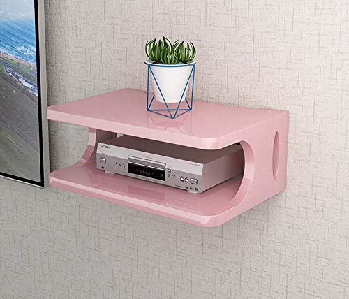Fen Floating Regal Set-Top Box Regal Wandbehang Wohnzimmer TV Wand Wireless WiFi Router Aufbewahrungsbox (Farbe : SCHWARZ)