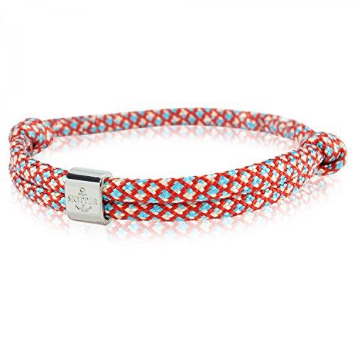 Skipper Surfer-Armband mit Charm für Damen und Herren - Rot/Blau / Weiß 6791