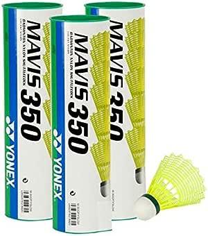 volants de badminton en nylon Yonex Mavis 350 Lot de 18 3 x 6 jaune//vert