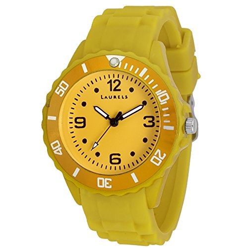 Laurels Ice Analog Yellow Dial Kids Watch - Lo-IC-0808