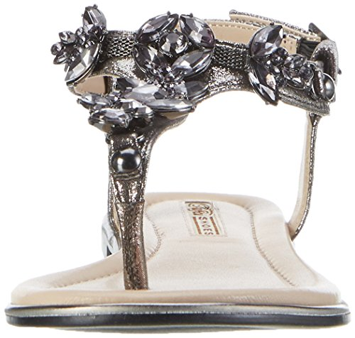 Buffalo David Bitton 14s07-21 Metallic Pu, Protège-Orteils Femme Gris (Pewter 01)