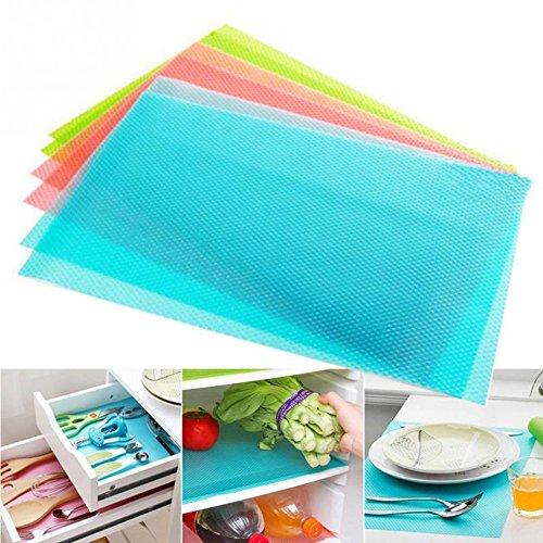 Kühlschränke Waschbare Kühlschrankmatten Küche-Silikon-Kühlraum-Auflagen Platzieren Sie Matten 5PCSSet