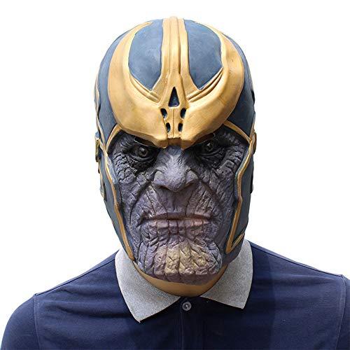 os Maske,Helm Halloween Latex Thanos Kopfbedeckung Film Cosplay Kostüm Maske Halloween Thema Party Maskerade,Sleeve ()
