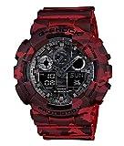 G-Shock Herren Analog-Digital Quarz Uhr mit Harz Armband GA-100CM-4AER