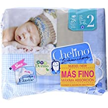 Chelino - Pañales talla 2 (3 28 Pañales - Pack de 6 (Total 168