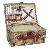 Thyme & Season - Cesto da picnic in salice anticato, set per 2 persone
