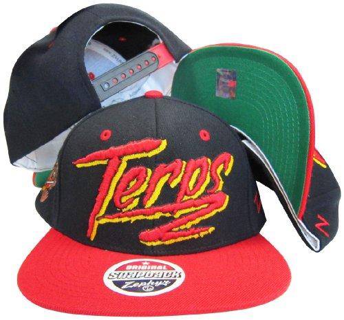 Maryland terapins schwarz/rot Zwei Ton Kunststoff Snapback Verstellbar Hat/Cap Retro Snapback Hats