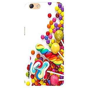 iSweven Colorful Chocolates design printed matte finish back case cover for Oppo F3