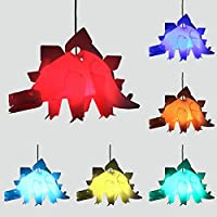 Modern Ceiling Pendant Shade - Complete with a 10w LED Colour Changing RGB Light Bulb with Remote Control