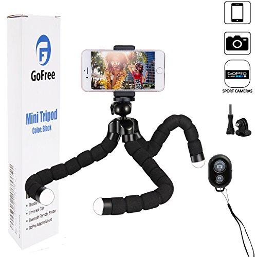 Phone Stativ, gofree GoPro Stativ tragbare Kamera Stativ mit Fernauslöser Schreibtisch Flexible Stativ für iPhone X 66S 55S plus 77S 8Plus SLR Digital Kamera GoPro Hero 5/4/3(Upgrade Version)