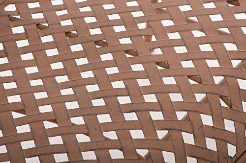 CLP Metall-Gartenbank TJURE im Landhausstil, Eisen lackiert, ca. 140 x 60 cm Antik Braun - 8