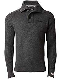 5d83a598865ee Dissident Mens Jumper Knitted Top Sweater Pullover Funnel Neck Winter 1A2886