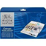 Winsor & Newton Cotman Painting Plus Boîte d'Aquarelle 16 demi-godets avec 3 tubes 8 ml