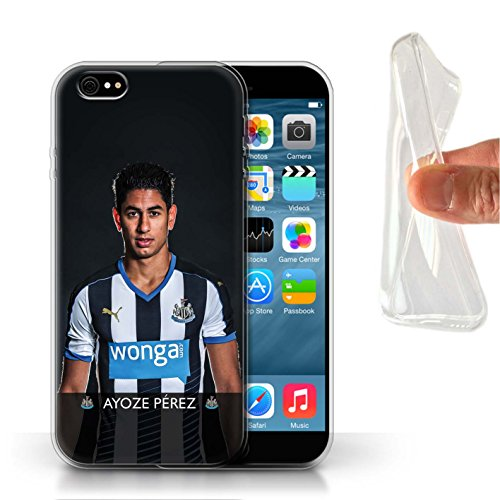 Offiziell Newcastle United FC Hülle / Gel TPU Case für Apple iPhone 6S / Pack 25pcs Muster / NUFC Fussballspieler 15/16 Kollektion Ayoze