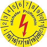 100 Stück Prüfplakette nächster e-Check Elektrocheck Elektro Prüfung 30 mm rund 2015-2020 Vergleich