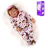 TINGSHOP Schlafende Realistische Wiedergeborene Babypuppen, 22 Zoll Neugeborenes...