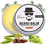 Aiemok Balsamo per Barba, 100% Naturale & Organico Beard Balm, Ricco di Olio di Semi d'uva, Olio di Cocco, Promuovere la Crescita Della Barba, Barbe Infermieristiche, Riduce il Prurito e la Secchezza
