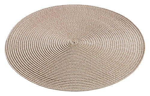décor line Zebulon Set de Table Plastique Taupe 35 x 35 cm