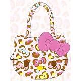 Bolsa Cara rosada mullida colorida de la impresi?n del leopardo de Hello Kitty (jap?n importaci?n)