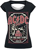 AC/DC About to Rock 1981 Girl-Shirt Schwarz XXL