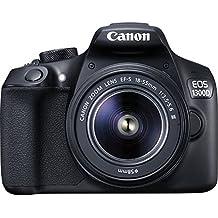 Canon EOS 1300D - Kit cámara digital y objetivo Canon EF-S 18-55 DC III (18 MP CMOS, 5184 x 3456 pixeles), color