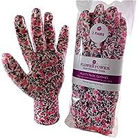 2paia di guanti da giardinaggio da donna, guanti da lavoro, leggeri e resistenti,perfetti per lavori in giardino e attività domestiche, il regalo di giardinaggio ideale per le donne -