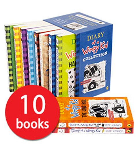Price comparison product image Jeff Kinney Diary of a Wimpy Kid Collection 10 Books Box Set
