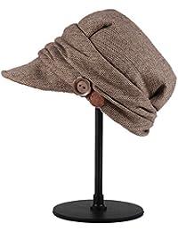 Categoría sombreros de mujer, nuevo para otoño/invierno tapa boina de lana sombrero marrón de la mujer,térmica