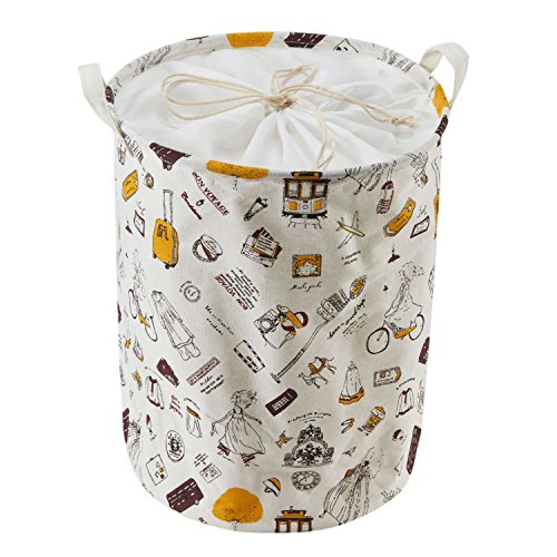beddingleer-cotton-and-linen-laundry-hamper-with-handles-foldable-closet-storage-bin-bag-storage-bas