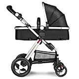 Besrey Silla de paseo para niños Cochecito para bebés Baby Jogger Carriage - 2 colores - negro