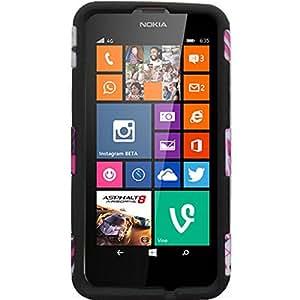HR Wireless Nokia Lumia 635/630 Dynamic Slim Hybrid Cover Case - Retail Packaging - Hot Chevron/Sky Blue