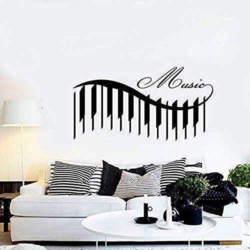 ttymei Musik Klavier Schöne Lieder Garantiert Qualität Aufkleber Wandbild Kunst 80X42cm (Für Klavier Halloween-lieder Gute)