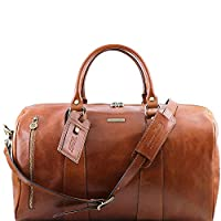 Tuscany Leather - TL Voyager - Travel leather duffle bag - Large size Honey - TL141217/3