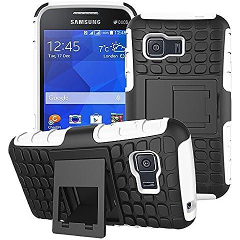 Beiuns para Samsung Galaxy Young 2 (3,5 pulgadas,2014) Funda de Protección Hibrida Carcasa - HH505 blanco