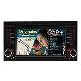 A-SURE 7 Zoll Doppel 2 Din Autoradio Navi DVD GPS Bluetooth FM Radio RDS VMCD für Audi A4 S4 Seat Exeo original Kartematerial (49 europäische Länder) W5A4Q 2-Jahre-Garantie