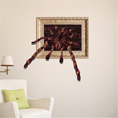 Weihnachts-Dekoration für Halloween 3D (Spinne) Broken Wall Sticker/Wallpaper/Schlafzimmer/Wohnzimmer/TV/Sofa/Hintergrund/HD/selbstklebende Sticker / (59 * 58 cm) (Halloween Spinne Dekorationen)