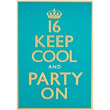 Hallmark 16th Birthday Card For Him Keep Cool