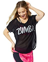Zumba Fitness Mesh Tulip - Camiseta sin mangas para mujer, color negro, talla M